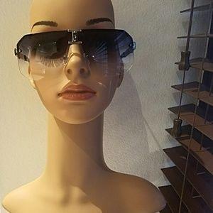 Rimless Aviator Sunglasses.